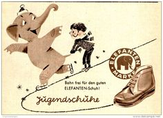 Original-Werbung/ Anzeige 1957 - ELEFANTEN SCHUHE - ca. 115 x 80 mm