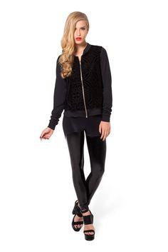 Burned Velvet Bomber by Black Milk Clothing $100AUD