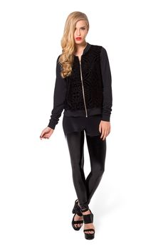 Burned Velvet Bomber by Black Milk Clothing $100AUD, S