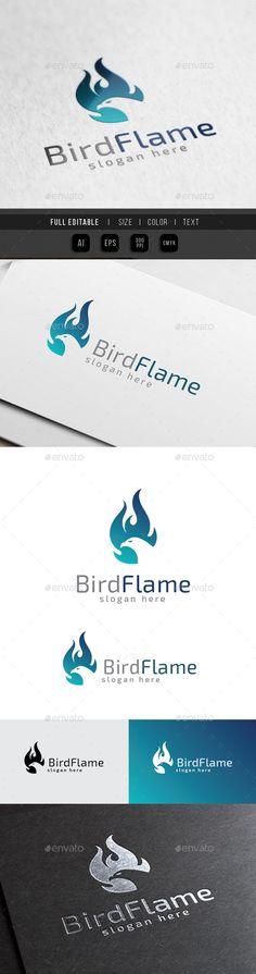 Phoenix Flame  Bird Burn Fire — Vector EPS #grill #bird • Available here → https://graphicriver.net/item/phoenix-flame-bird-burn-fire/10369861?ref=pxcr