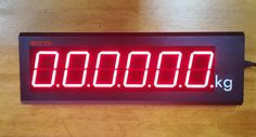 Bright LED 6 Digit Display that can be connected to your weighing instrument via RS 232 and Connection. Suitable for Weigh bridges and where the main indicator is a distance away. Contact JHB or PTA. Pta, Digital Alarm Clock, Long Distance, Bridges, Connection, Display, Floor Space, Billboard, Long Distance Love