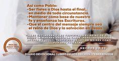 Día 29 - Hoy finalizamos nuestro estudio devocional del Libro de los Hechos con esta conclusión. #Devocional #LibroDeLosHechos #IcaRiosXela