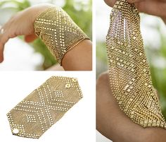 Cute Bracelets, Jewelry Bracelets, Soul Connection, Mesh Bracelet, Bridal Fashion, Gold Jewellery, Fingerless Gloves, Arm Warmers, Pink And Gold