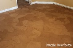 Paper Bag Floors, (walls, table tops, lots of ideas to use this creative method) - looks great and its inexpensive.