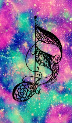 Music note galaxy wallpaper I created for the app CocoPPa!