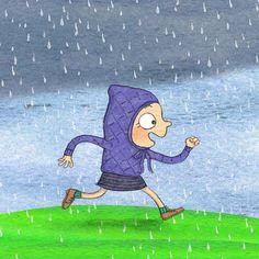 #rain #childrensbook #childrensillustration #kidslit #running #ilovetherain #illustration