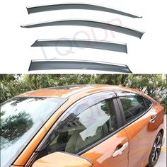 Light Tinted Out-Channel Vent Visor Deflector 4pcs For 2001-2006 Suzuki XL-7