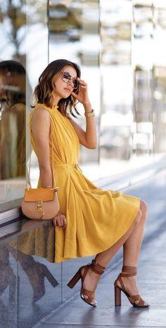 Plus Dresses, Short Dresses, Mini Dresses, Loose Dresses, Yellow Dress Summer, Summer Dresses, Summer Outfits, Bohemia Dress, Plain Dress