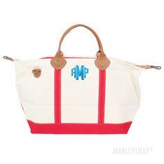 Monogrammed Sunshine Satchel Duffel Bag | Marley Lilly