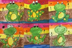 The second graders created these adorable frogs for their square one art project. We used shapes and lines to draw our frog, then learned about analogous colors, warm colors, and texture. I love how...