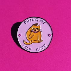 Hey, I found this really awesome Etsy listing at https://www.etsy.com/listing/452428640/doing-my-self-care-soft-enamel-cat-pin