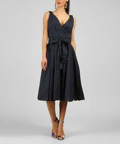 Another great find on #zulily! Navy Heart V-Neck Dress by Kushi by Jasko #zulilyfinds