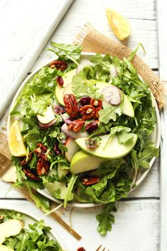 Apple Pecan Arugula Salad | Minimalist Baker Recipes