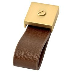 Leather and Brass Pull #hardware