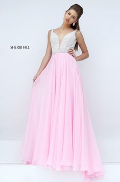 Sexy V-neck Dress for Prom Girl sherri hill 11327