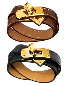 Hermès Kelly Double Tour Bracelet In Gold - Fell in love even before I knew it was Hermes. le sigh