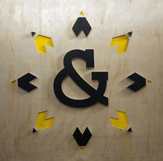 ) emphasises the ampersand in his company name at his expo stand at Design Indaba 2013 Expo Stand, My Design, Graphic Design, Typo, Sons, Behance, Branding, 3d, Interior