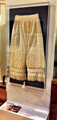 See Scarlett O'Hara's pantalettes at the Road to Tara Museum in Jonesboro, #Georgia!