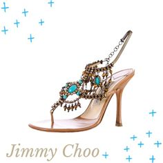"% Authentic Jimmy Choo sandals - Offers Welcome! Authentic, EUC brown Jimmy Choo sandals with crystal & bead embellished straps. Hook closure. Absolutely breathtaking!!!! Sadly these are slightly too big for me so someone else needs to show them off.   Excellent condition with slight scuffing on outer soles.   Heel 4"".  Size US 7/IT 37.   ❌trades. ❌PayPal.  ✅offers. Jimmy Choo Shoes Heels"