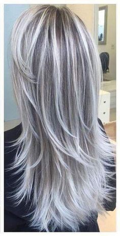 Best hair ombre grey blonde haircuts ideas - All For New Hairstyles Bob Rubio, Extensions For Thin Hair, Silver Blonde Hair, Silver Hair Colors, White Blonde, Platinum Blonde, Silver Ombre, Grey Ombre, Long Layered Hair