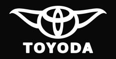 Toyoda Funny Toyota Star Wars Die Cut Vinyl Decal Sticker