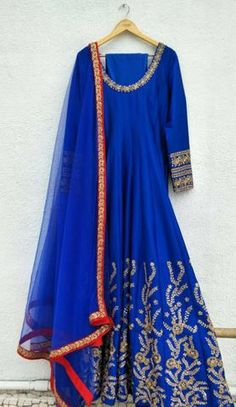 Indian Wedding Outfits, Sharara, Anarkali Suits, Electric Blue, Red And Blue, Tunic Tops, Customer Service, Clothes, Shopping