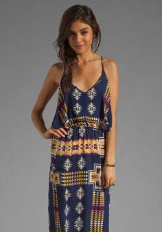 EIGHT SIXTY Tribal Maxi in Navy - Eight Sixty