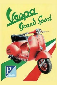 Advertisement   Vintage Vespa Poster  #ridecolorfully #katespadeny #vespa