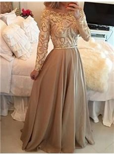 Vintage Embroider Long Sleeve Party Dress
