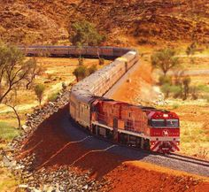 Do the NT by train and take the Ghan through the Outback from Alice Springs to Darwin, Northern Territory, Australia By Train, Train Tracks, Southern Rail, U Bahn Station, Trains, Bonde, Train Journey, Train Trip, Train Rides