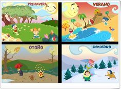 """Posters de """"Las estaciones del año"""" de Educapeques.com"""