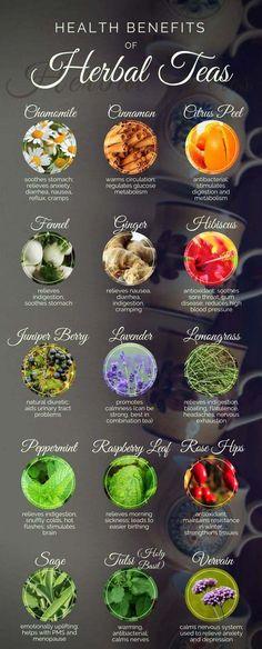 15 Best Herbal Teas and Their Health Benefits #herb #tea #healthyeating