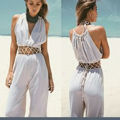 PRE-ORDER ONLY!  BOHO CHIFFON ROMPER PRE-ORDER ONLY! BEIGE BOHO ROMPER so unique and absolutely gorgeous the best ratings I've seen on a chiffon Romper in a long time there are very few of these left please comment so I can explain to you how to get your pre-order item you will be completely satisfied every one of those who has been so happy plus you save money and all prices do include shipping please do not hesitate on this one Pants Jumpsuits & Rompers