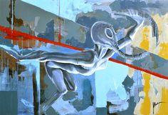 120x80 acrylic painting by Tomasz Machoń