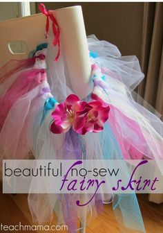 Have a birthday coming up to celebrate? Learn how to make this beautiful EASY no-sew fairy skirt! Fairy skirts are perfect for dress up or for parties and dress up can even be a great indoor activity for a rainy summer day. I like to have some dress up clothes on hand, and this easy fairy skirt is simple to make and doesn't require knowing how to sew! #teachmama #diy #diyskirt #fairy #fairyskirt #girlsdressup #birthday #birthdaygirl #princessparty #princess #kidfun #indooractivity