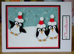 Furry Tale Cards and Crafts: Penguin Party    SHE USED THE SU! OWL PUNCH, FOLKS!!!
