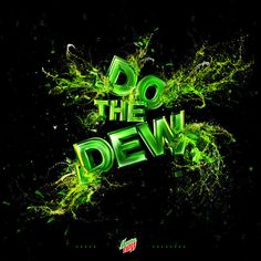 The Mountain Dew as an example of inspirational typography example in print ads Creative Typography Design, Typography Prints, Lettering, Iphone Design, Type Treatments, Mountain Dew, Green Mountain, Web Inspiration, World Of Color