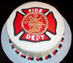 Firefighter Maltese Cross Groom's Cake | Shared by LION