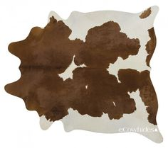 Brown White Brazilian Cowhide Rug Cow Hide Rugs: XXL by eCowhides