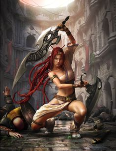 Nariko Heavanly Swords.  A seriously honorable and courageous chick!!
