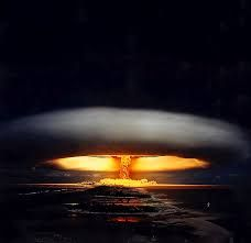 Nuclear explosion  The explosion of an atomic bomb.