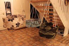 Hanging cradle, roikkuva kehto, diy Hanging Cradle, Hanging Chair, Crafts, Diy, Furniture, Home Decor, Hammock Chair, Manualidades, Decoration Home