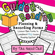Guided Reading Planning & Recording Forms!  Just add books!  $