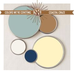 Colors We're Coveting || coastal color palette, Benjamin Moore || Yellow & Blue