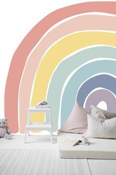 Let's Chase Rainbows muurschildering zeven kleuren van de | Etsy