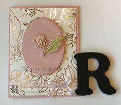   Stampin' Up   Stampin' Up cards   card making Ideas   papercrafts   Sale-a-bration   Have you seen the gorgeous rose gold designer series paper that is part of the second release for Sale-a-bration for Stampin' Up? It is so pretty and is very versatile. There are lots of ideas you can find. Here is my version of Sale-a-bration Springtime Foils Designer Series Paper card.