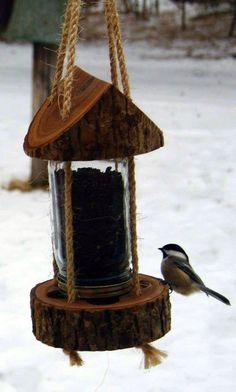 Cómo hacer un comedero para que las aves se alimenten