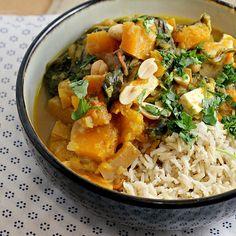 Thai Tofu and Winter Squash Stew