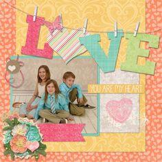 LOVE - Scrapbook.com Family Scrapbook Page