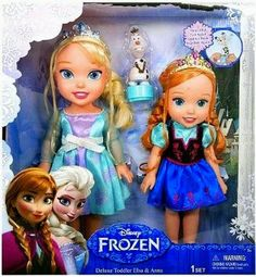Disney Frozen Deluxe Toddler Elsa and Anna Dolls
